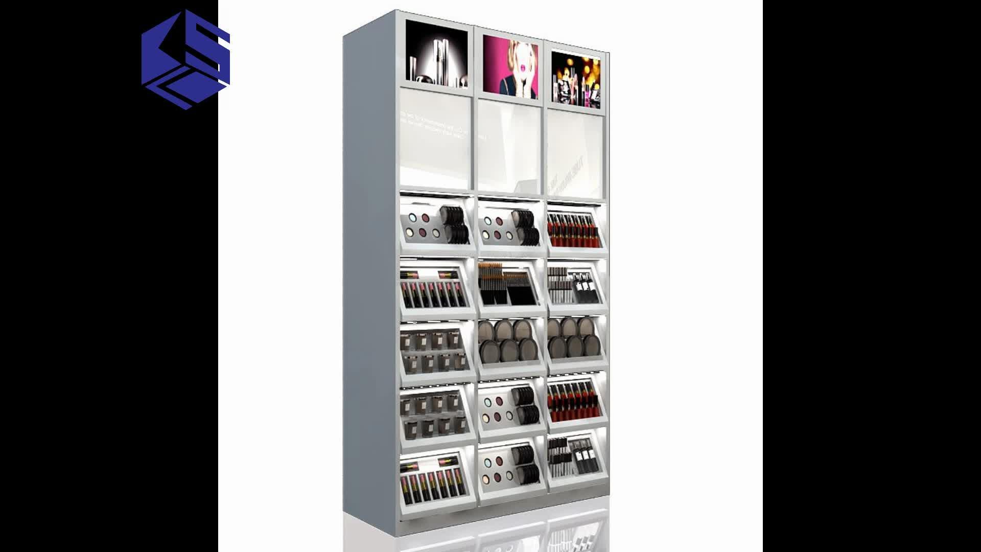 Holz körper acryl logo parfüm machen oben ausstellungsstand kosmetik display gondel