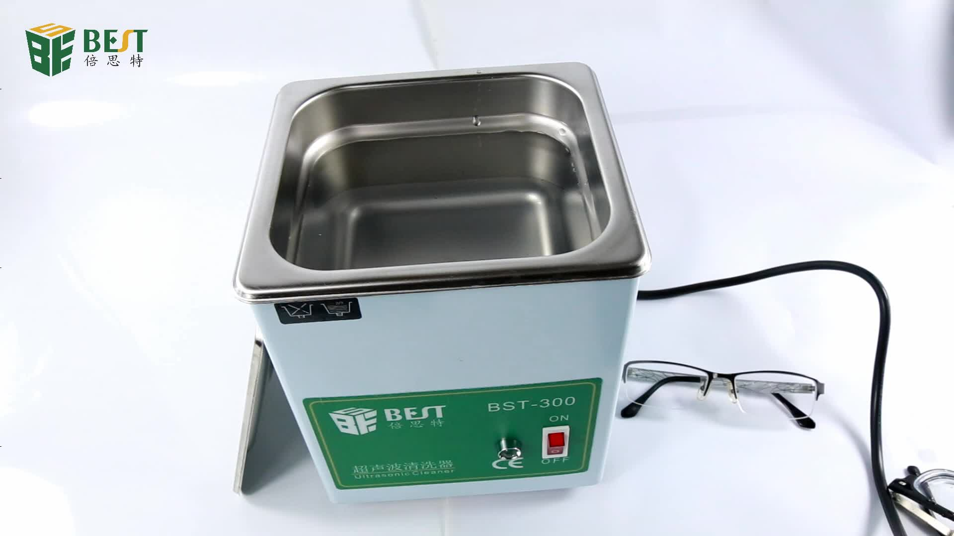 BEST 300 Practical Automatic Glasses Dental Portable Ultrasonic Cleaner