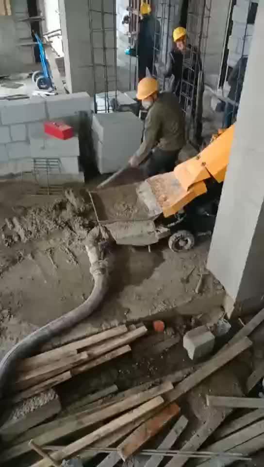 Piccola Pompa per Calcestruzzo per la vendita, usato camion pompa per calcestruzzo, calcestruzzo putzmeister pompe per calcestruzzo e tubo