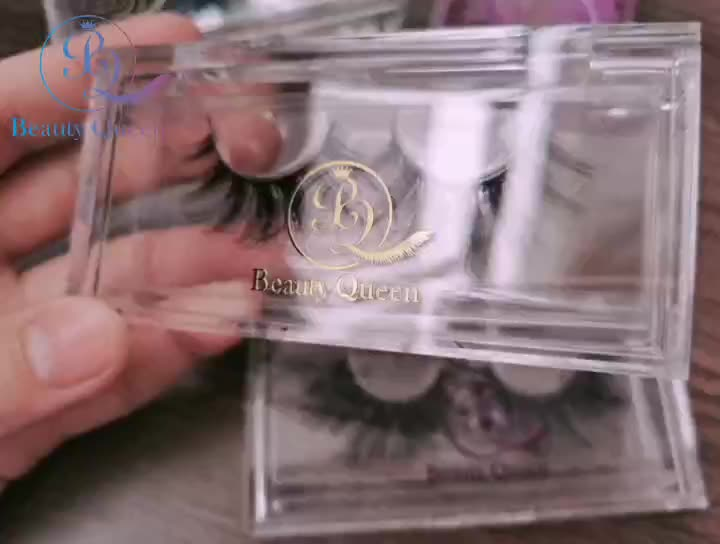 Golden Sliver Holographic Color Stickers Acrylic Lash Box Eyelashes Packaging