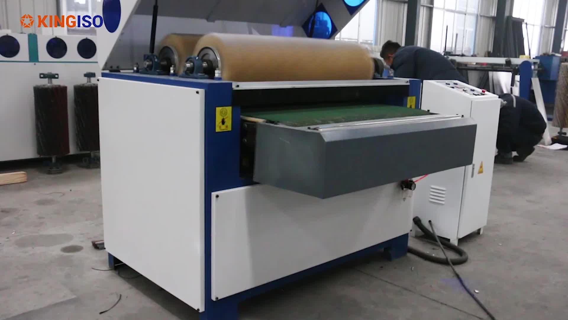 High quality Drum sanding machine Wood polishing machine KI1000R-R Polishing machine for solid door