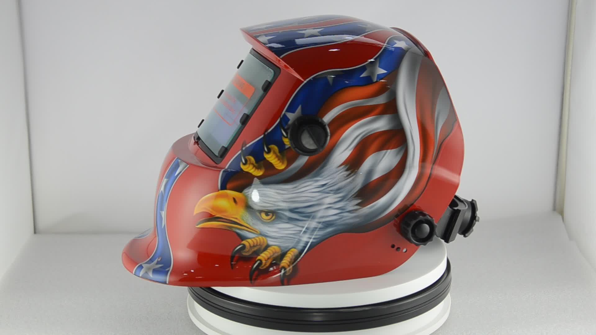 Wuhan Factory Art Painting Customization Red Owl Welding Helmet