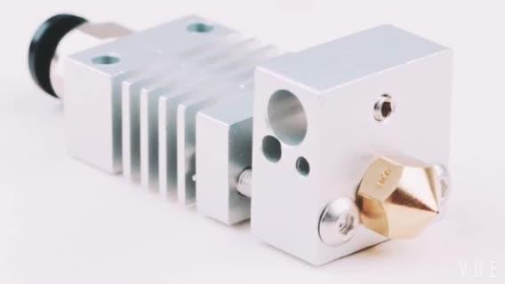 Bagian printer 3D EXTRUDER hotend dengan TC4 titanium alloy tenggorokan CR10