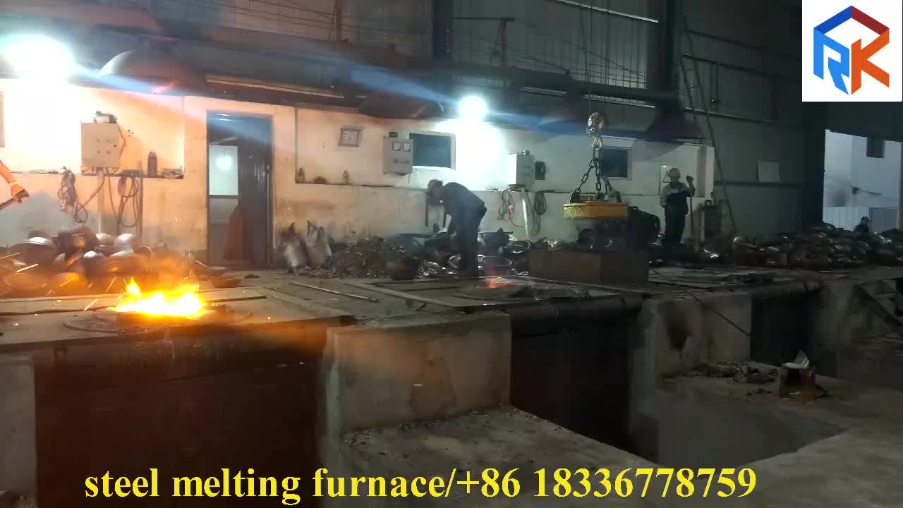 steel shell intermediate frequency induction iron smelter for sale 3Tons capacity
