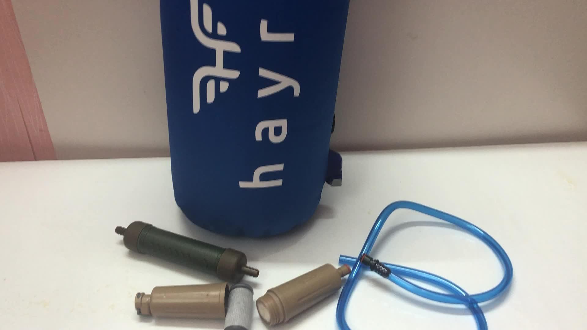 पानी फिल्टर बैग शिविर शावर पानी छानने का काम के लिए TPU सैन्य पोर्टेबल सूखी बैग आउटडोर अस्तित्व डेरा डाले हुए