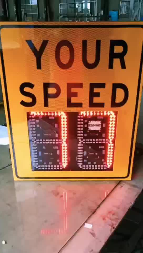レーダー速度で署名カメラ Led 交通安全ライト