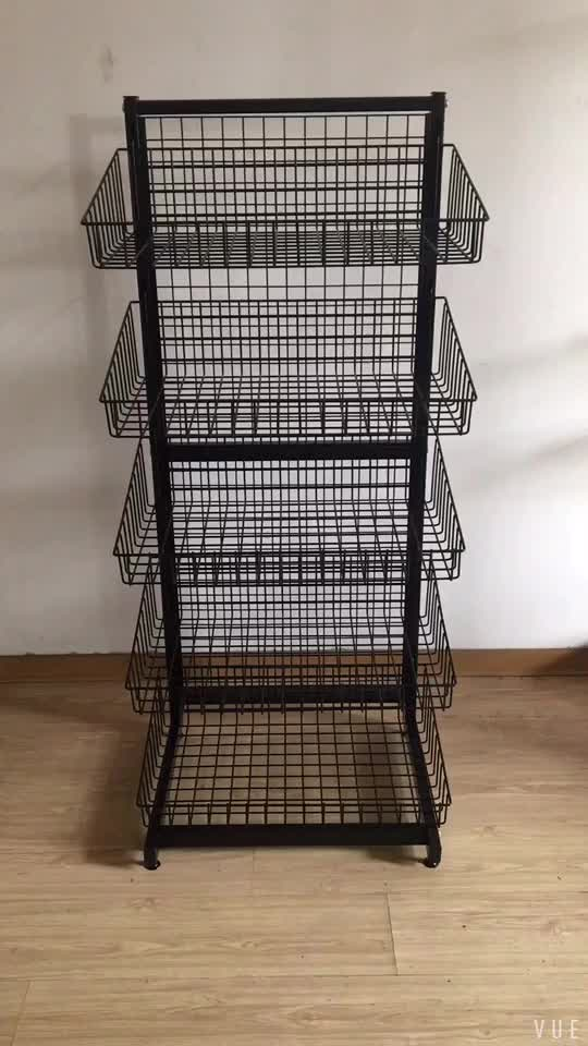 China commercial equipment manufacturer high quality steel supermarket rack
