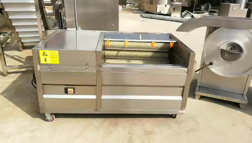 commercial 100kg/h semi auto frozen production of potato chips producing plant machines/french fries production line price