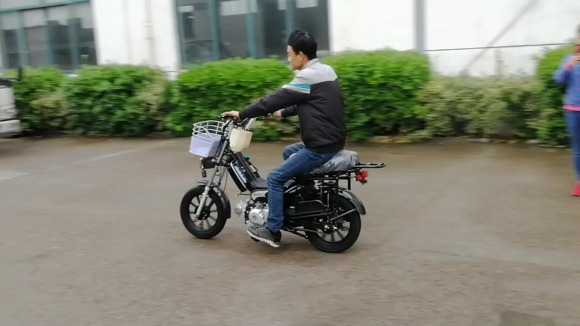 Chino motocicleta de 4 tiempos moskito gasolina mini 110cc 49cc 70cc 50 cc 50cc motocicleta ciclomotor con pedales