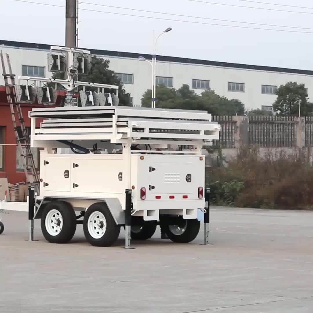 high quality quite clean solar powered mobile tower rent