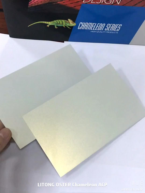 Fabrika Kaynağı 4mm Kırılmamış Çekirdek Pvdf Kaplama Dış alüminyum kompozit panel (acp)