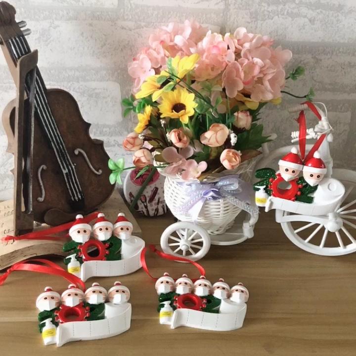 2021 שנה טובה יצרן של בעבודת יד רקום משפחת חג מולד עץ קישוטי קישוט