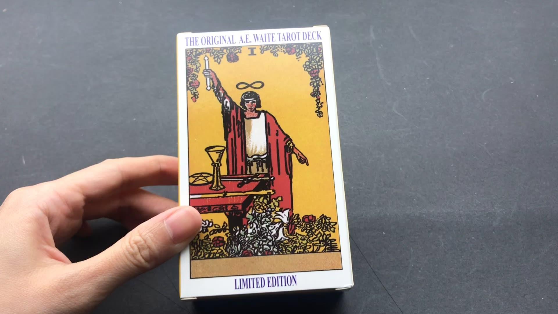 Оптовая продажа карты Таро палуба оригинальный rider waite карты Таро с книгой