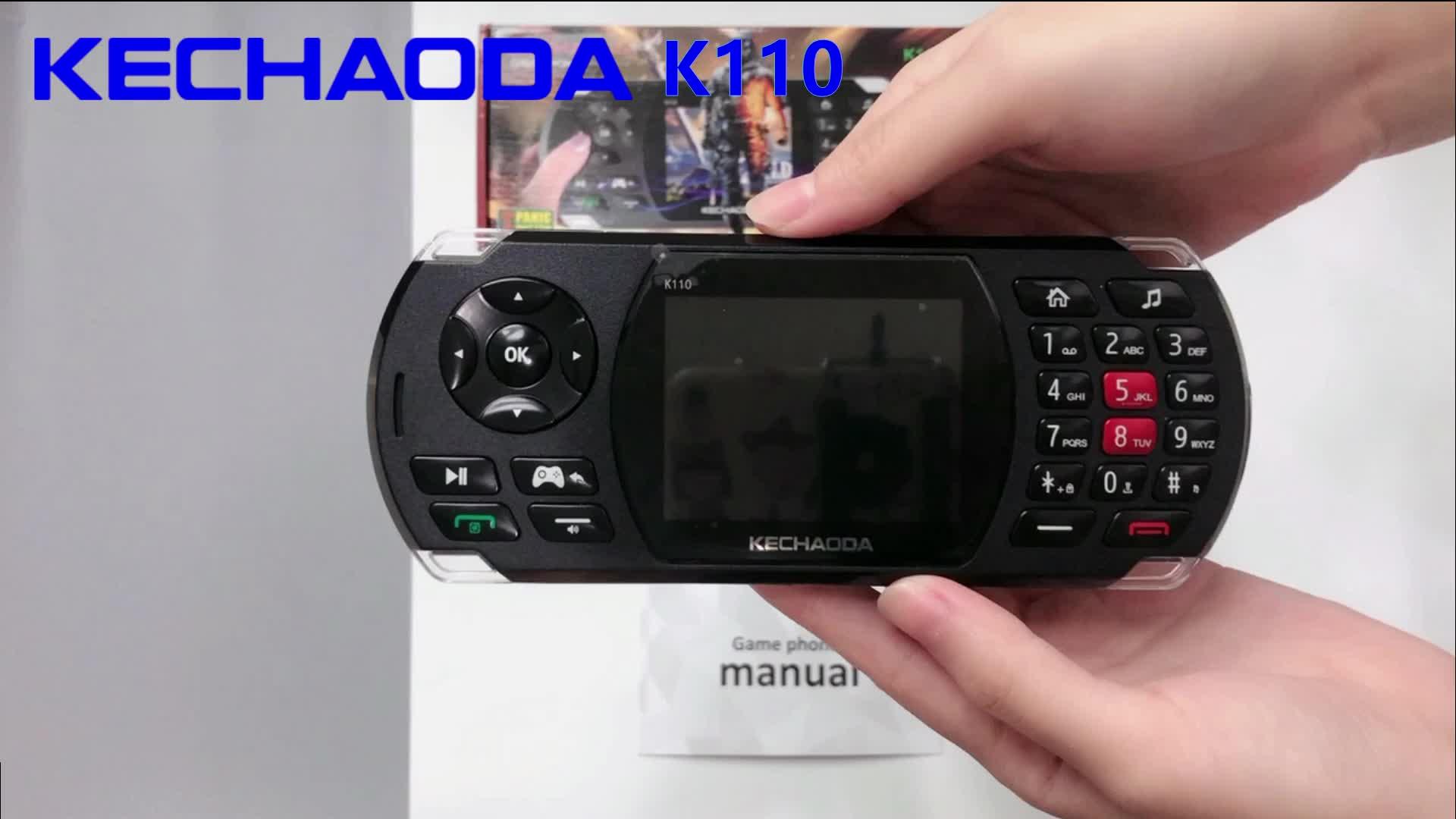KECHAODA K110 Jogo 2.8 inch Telefone 2600mAh Grande bateria Tocha Dual SIM Do Telefone Móvel