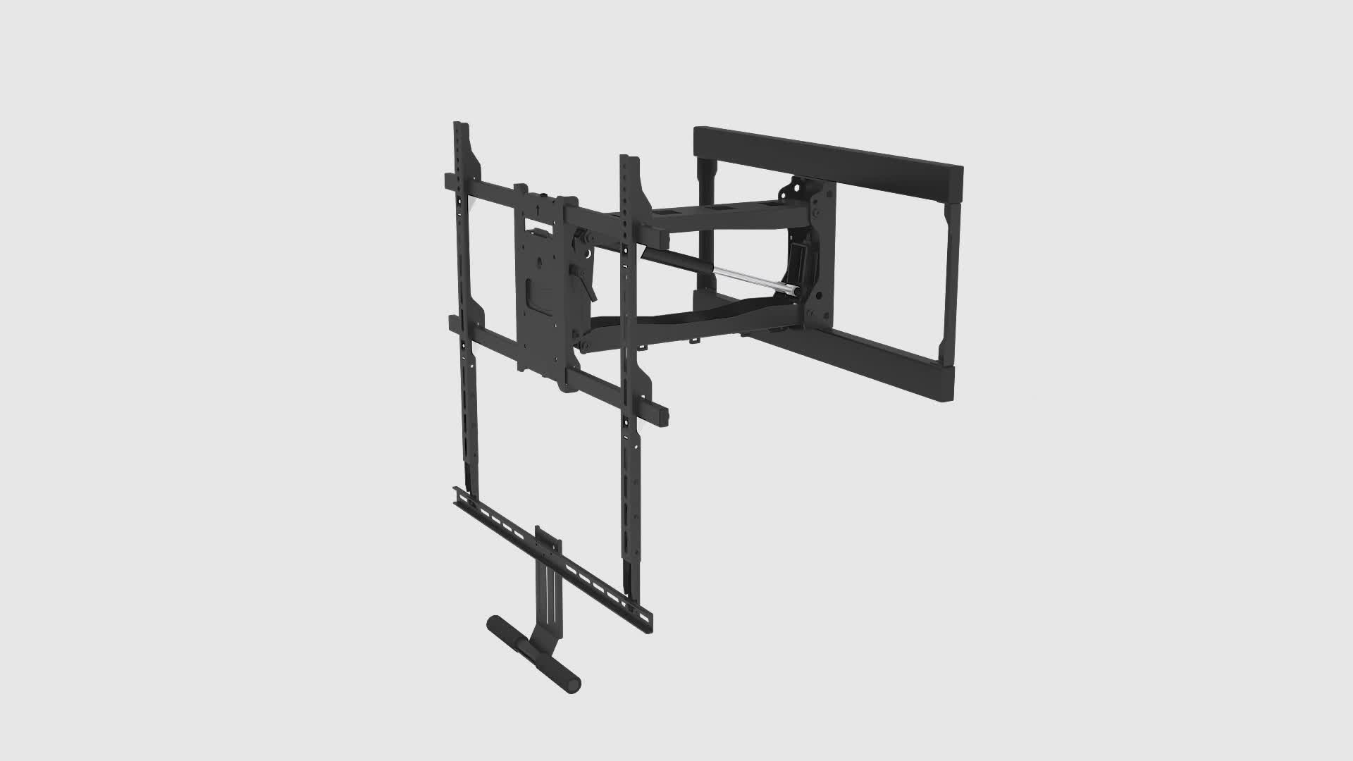 Proveedor Chino de chimenea baja de movimiento completo LCD LED TV de Pared Soporte de montaje con resorte de Gas