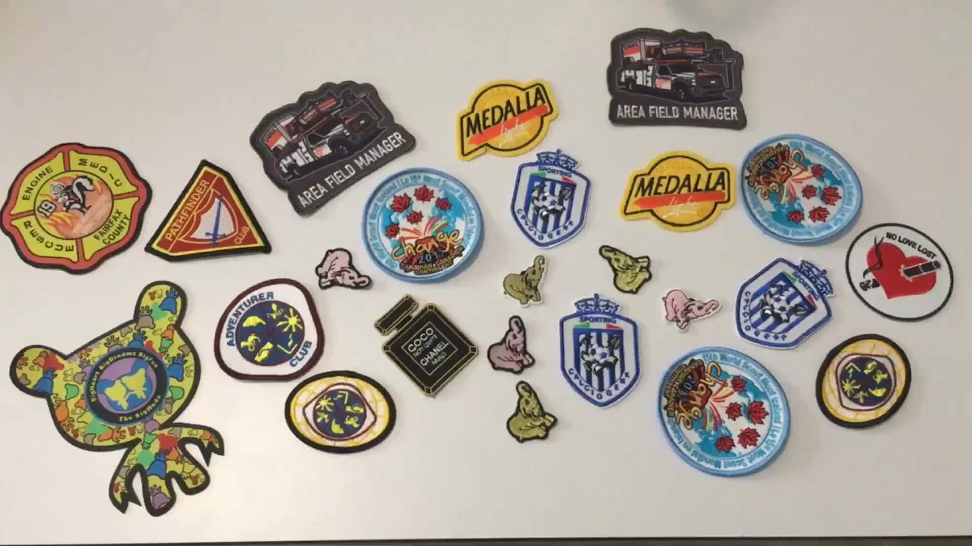personalized cute sew on clothing custom design shape Embroidery Patches Embroidery Badge  embroidery woven patch