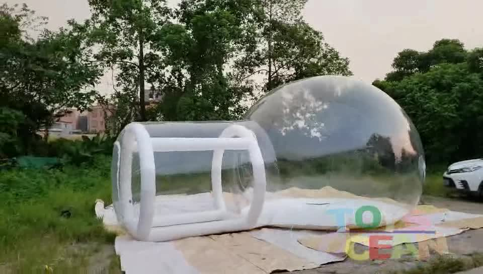 Populaire opblaasbare camping tent opblaasbare transparante koepel bubble tent