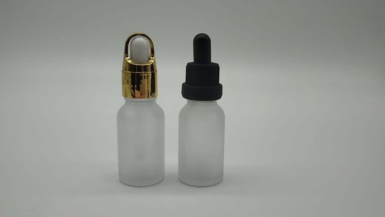 20ml frosted white essential oil bottle 20ml glass dropper bottles cosmetic container