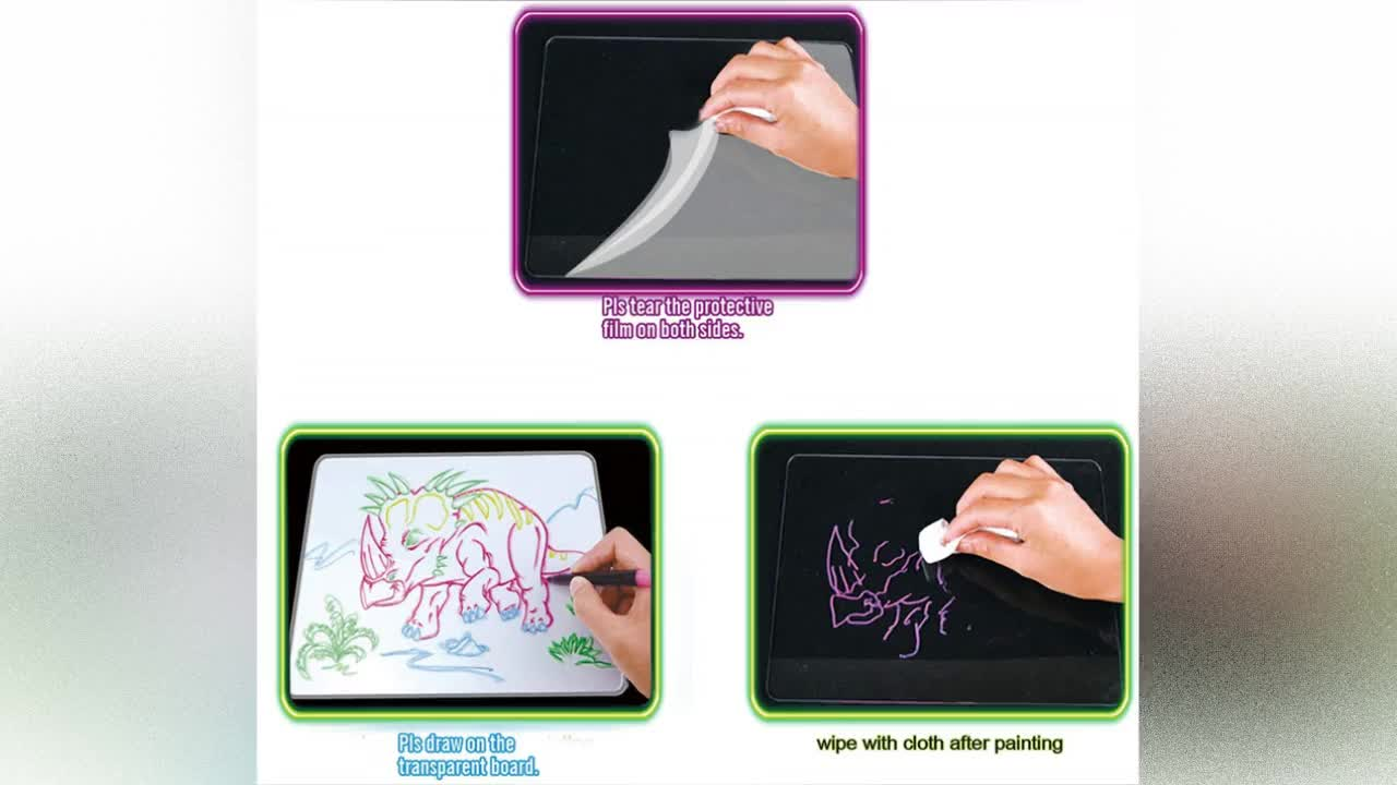 Best Choice Light up Tracing Pad, Colorful Erasable Writing Sketching Pad for Toddlers Learning
