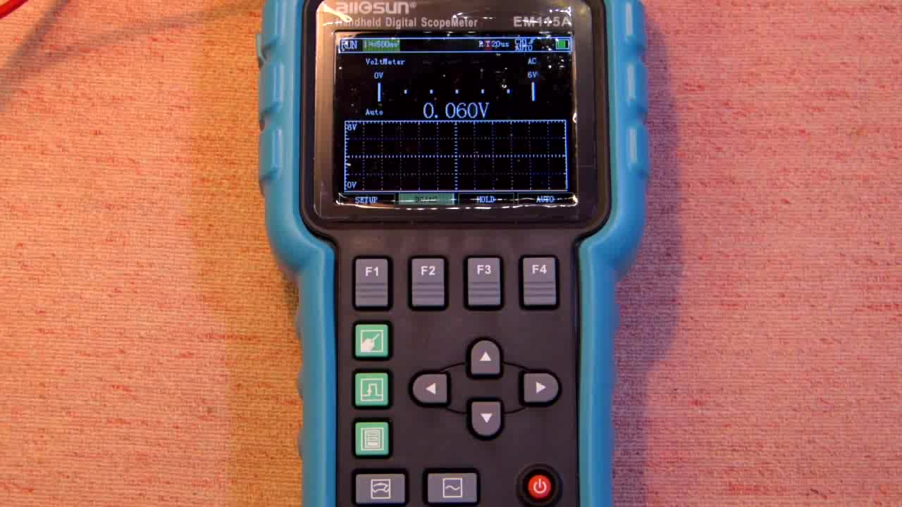 allsun EM115A Oscilloscope 50MHZ Handheld Oscillograph 3 in 1 Multi-function Color Screen Scope meter Single Channel DSO