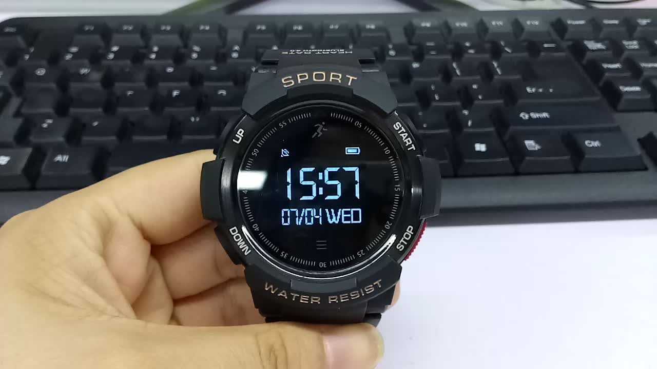 F6 0.96 inches oled automatic mens stylish waterproof watch with waterproof watch led outdoor pocket sport fitness tester