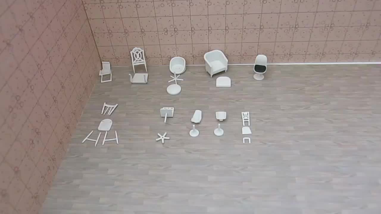 100pcs 1/20 1/25  1/30 architectural scale model computer chair
