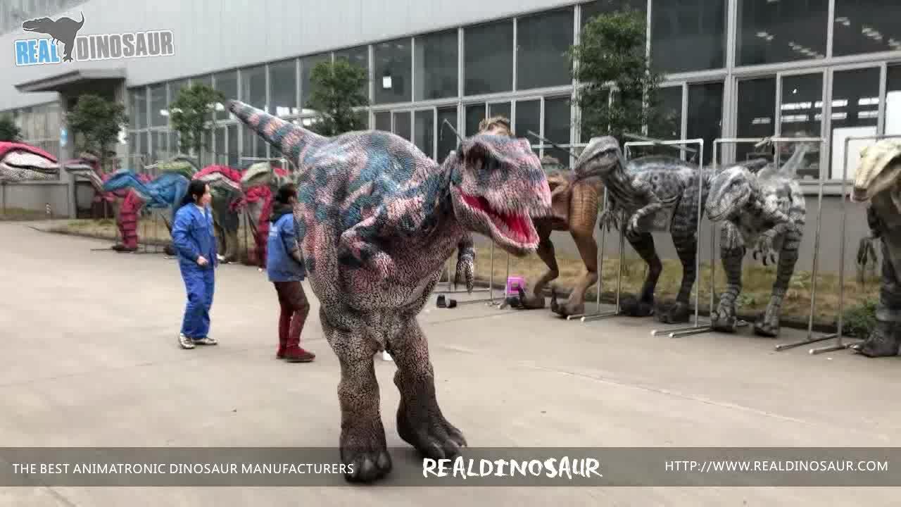الحياة حجم t-ريكس الديناصور الساقين الخفية الكبار المشي زي