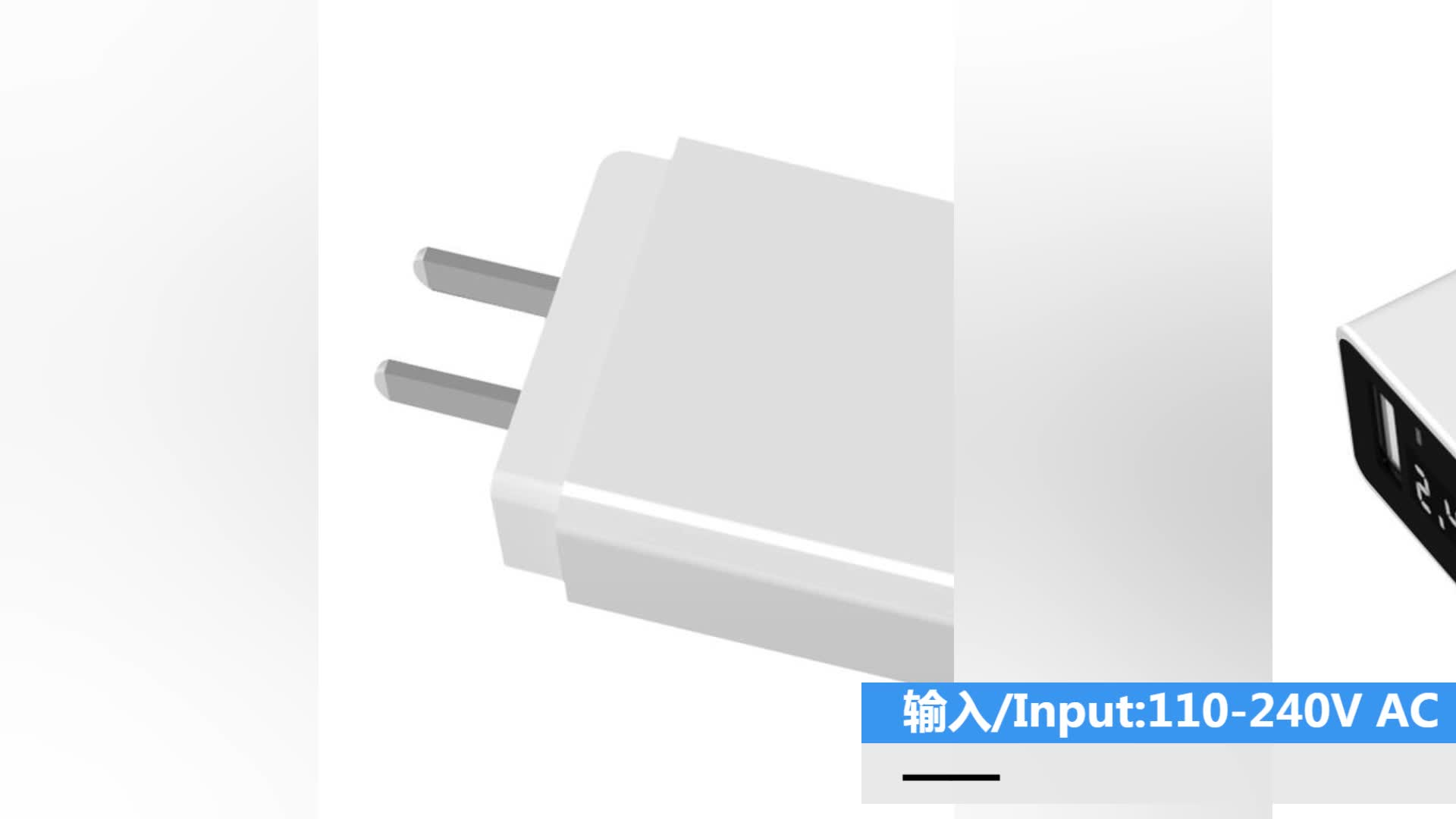 New Arrival USB Wall Charger 2.4A 12W High Quality Dual USB Travel Digital LED Display Charger