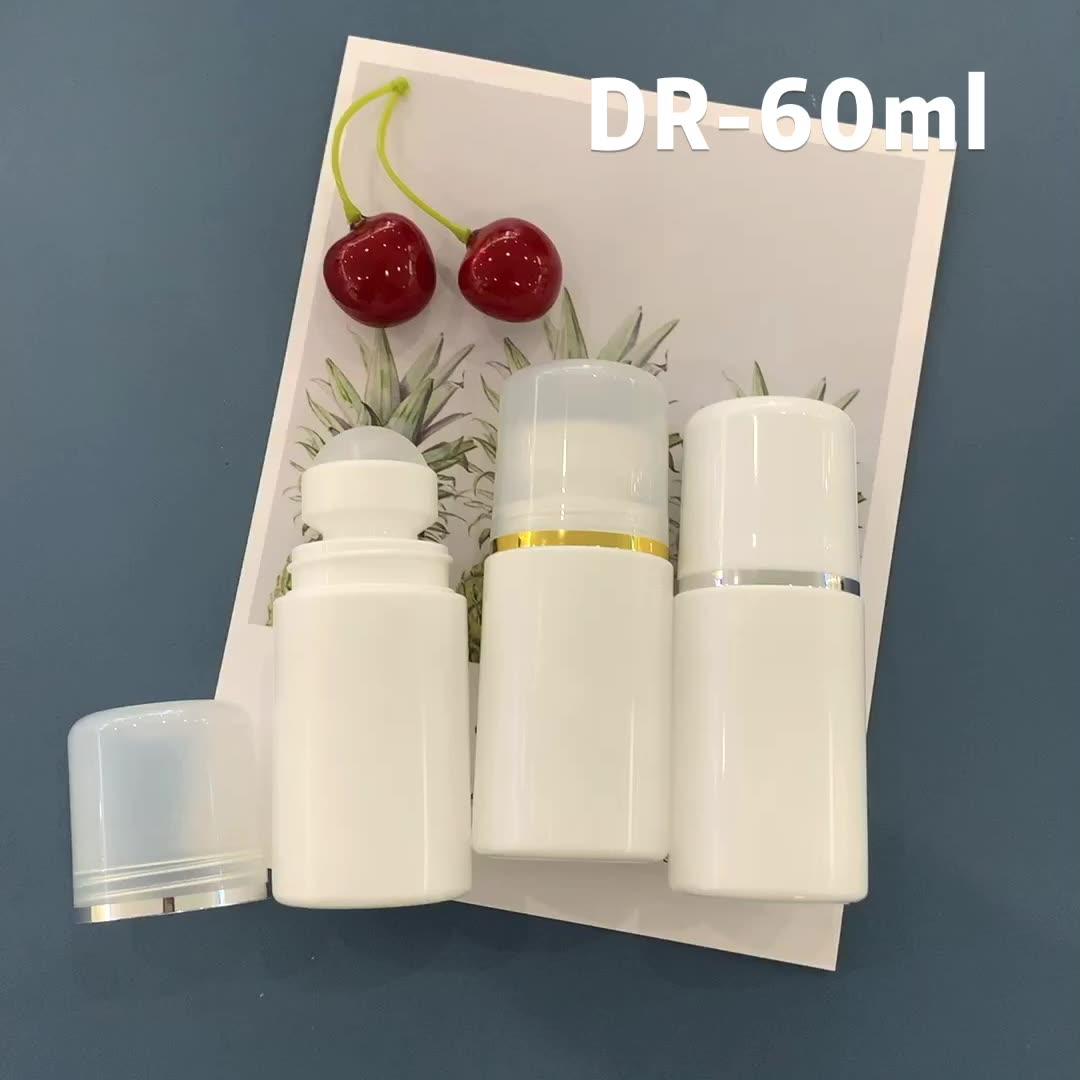 Wholesale Empty Plastic Roll On Deodorant Bottles 60ml Perfume Antiperspirant With Roller