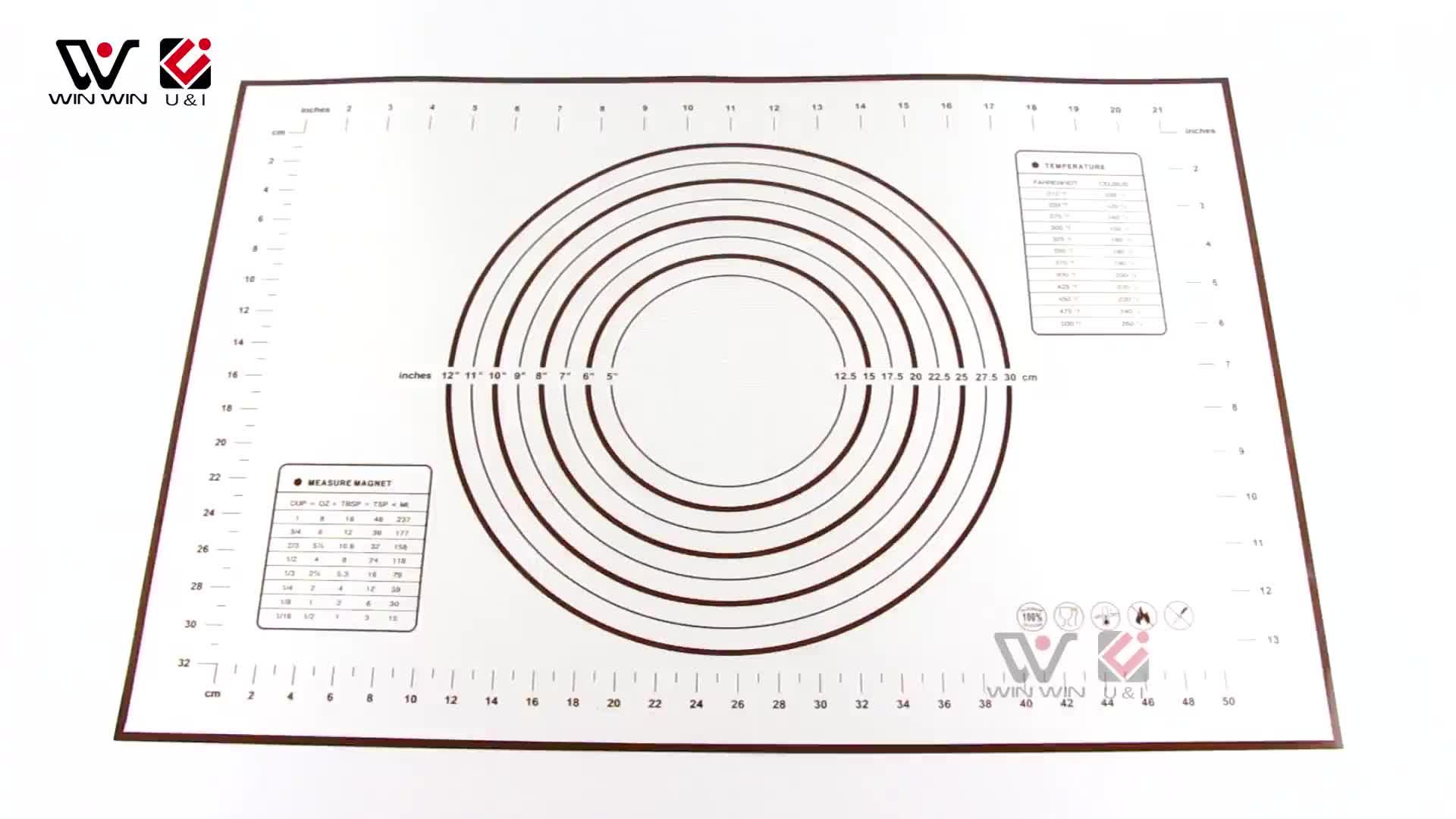 在线购物免费送货健康硅胶烘烤垫多功能烹饪垫硅胶糕点垫 60*40 厘米