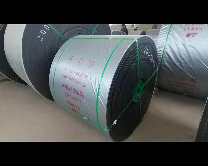 DIN22101 STANDARD ABRASION RESISTANT EP 500/4 FABRIC HEAT RESISTANT RUBBER CONVEYOR BELT MOULDED EDGE