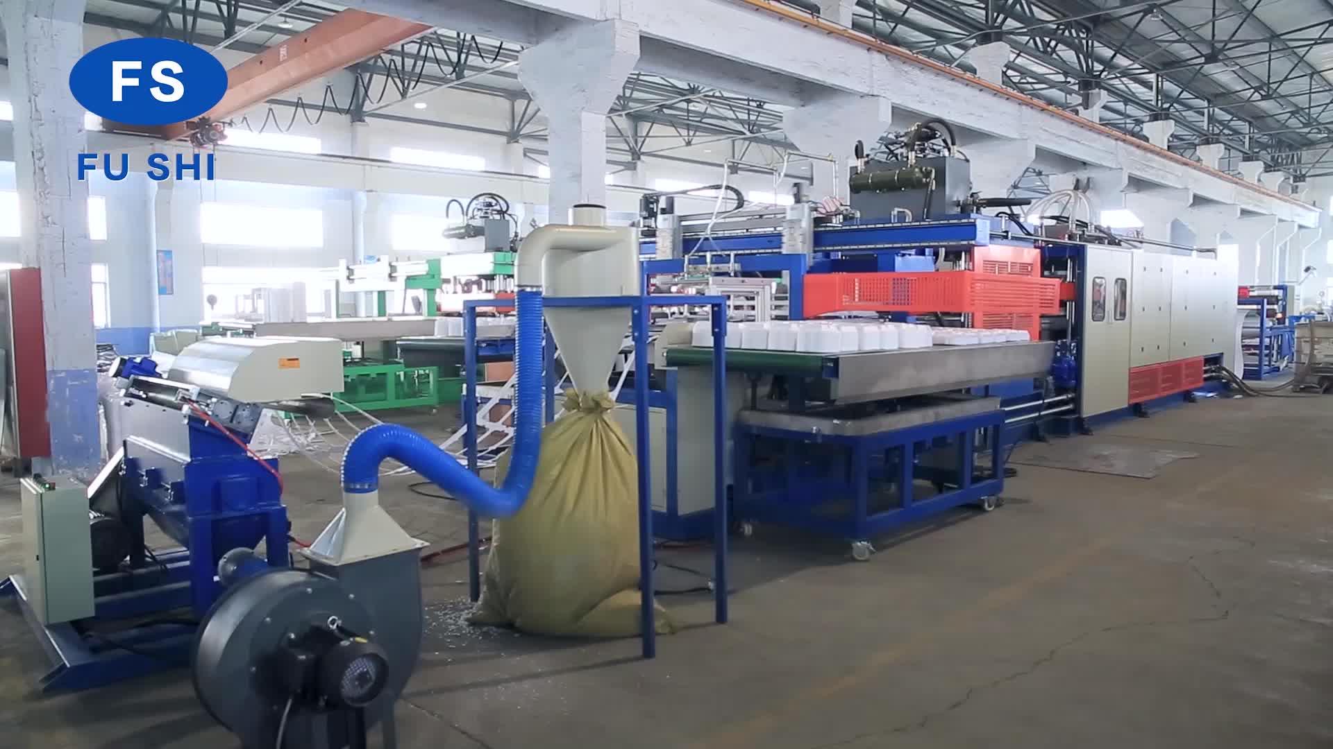 Plastic Vacuümvormmachine Fast Food Containers Maken Machines