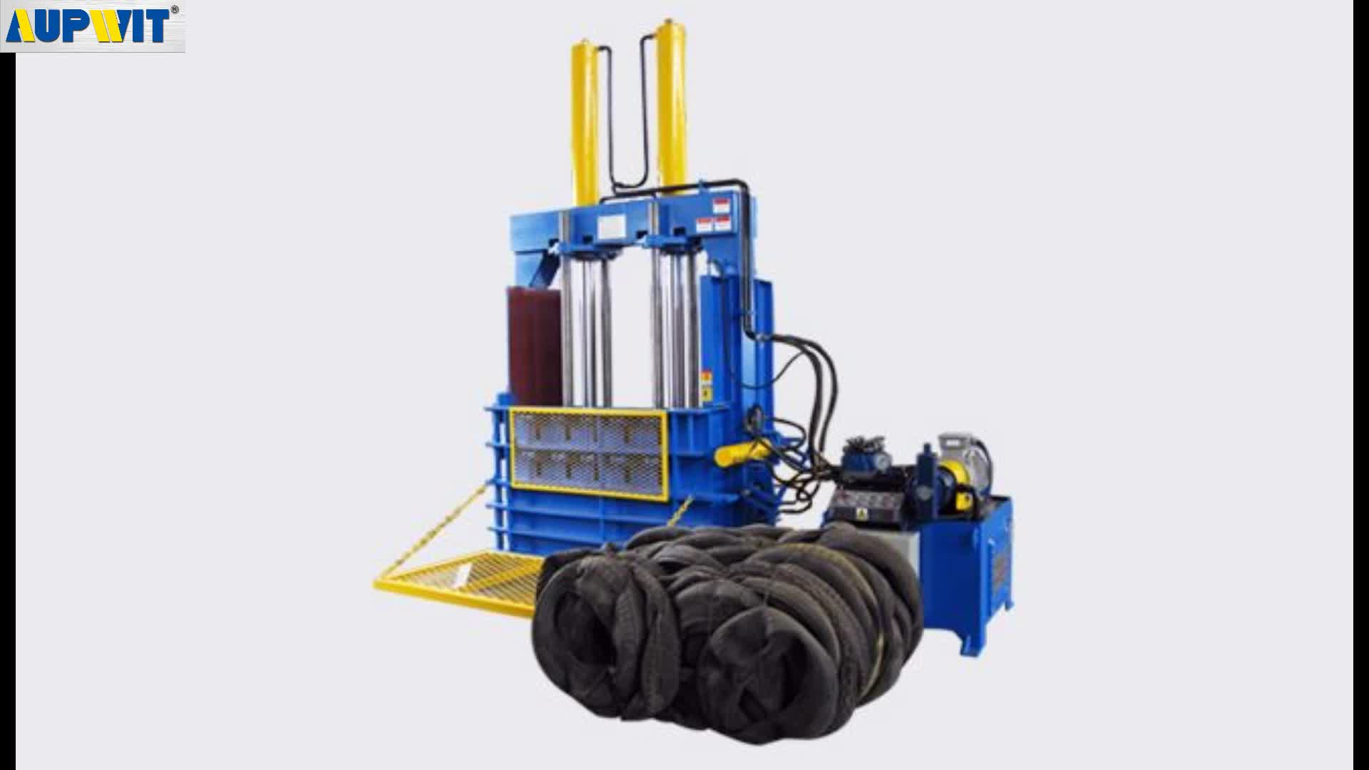 waste/scrap tire strapping baling compressed machine factory price
