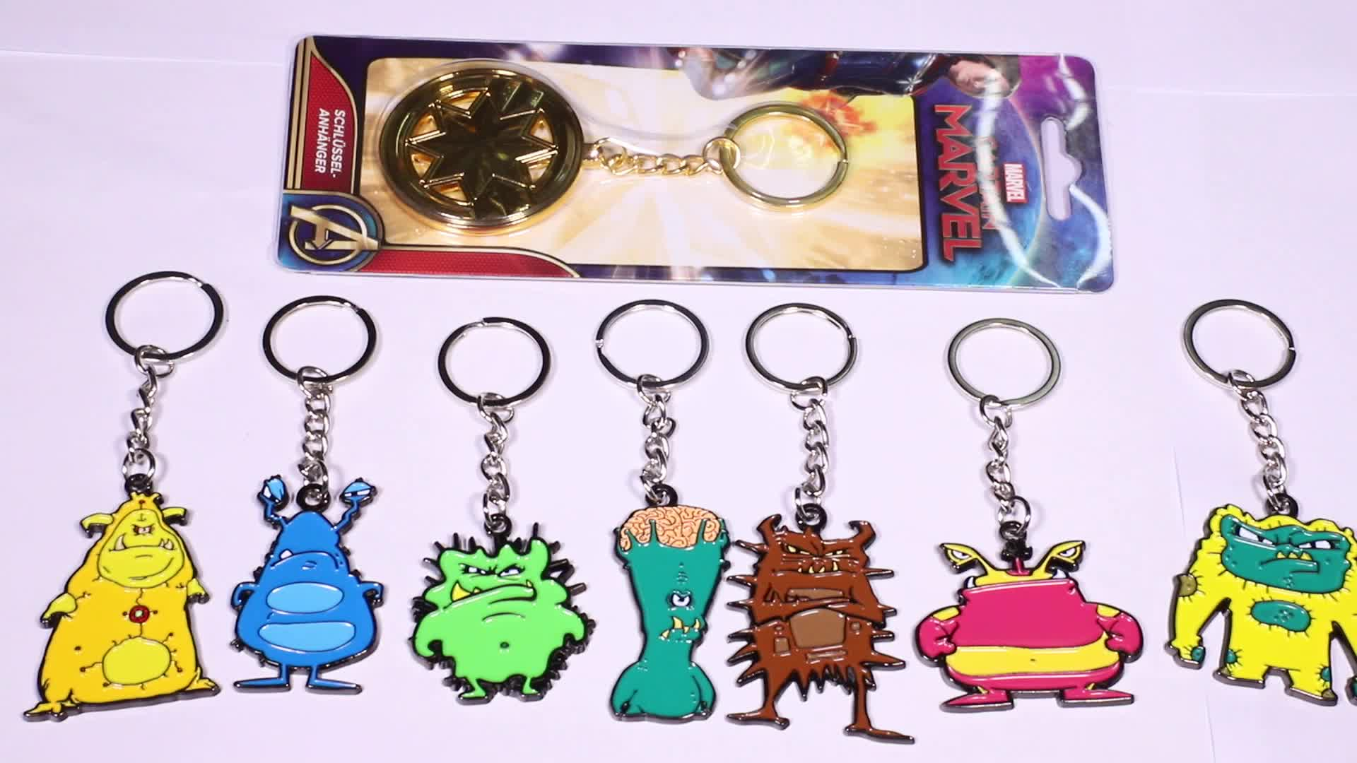 Professional manufacturer hollywood gift box game of thrones shaped customized keychain