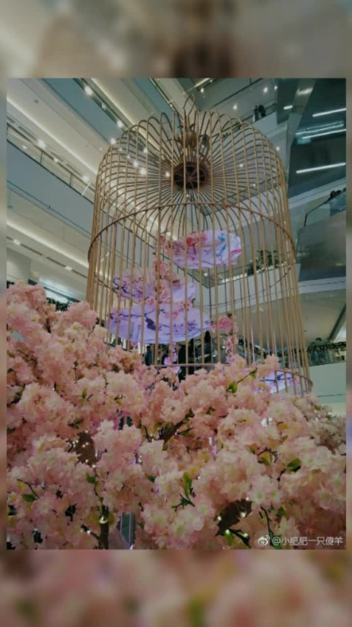 Romantic Pink Decoration For Wedding Background Artificial Cherry Blossom Tree