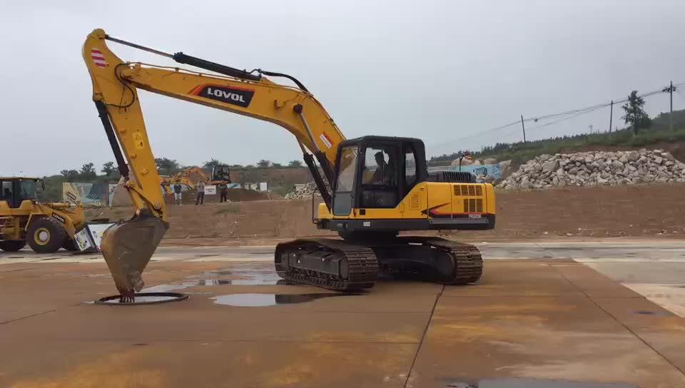 Di estrazione mineraria Crawler Escavatore 22 Ton 0.92 CBM da Cantiere Digger Pezzi di Motore ISUZU Kawasaki Sistema Idraulico