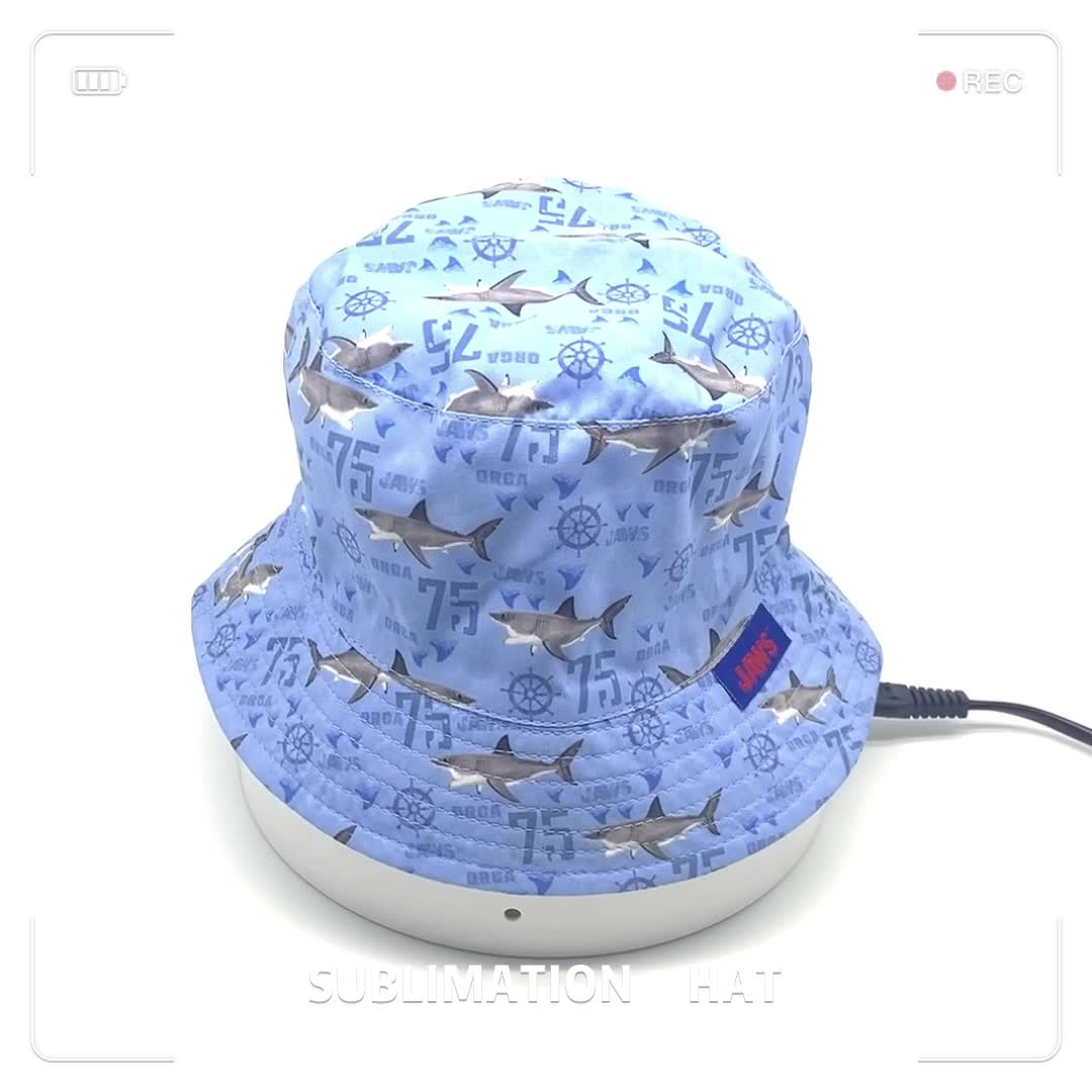2020 Wholesale Kids muti-style Colorful Funny Sublimation bucket hat