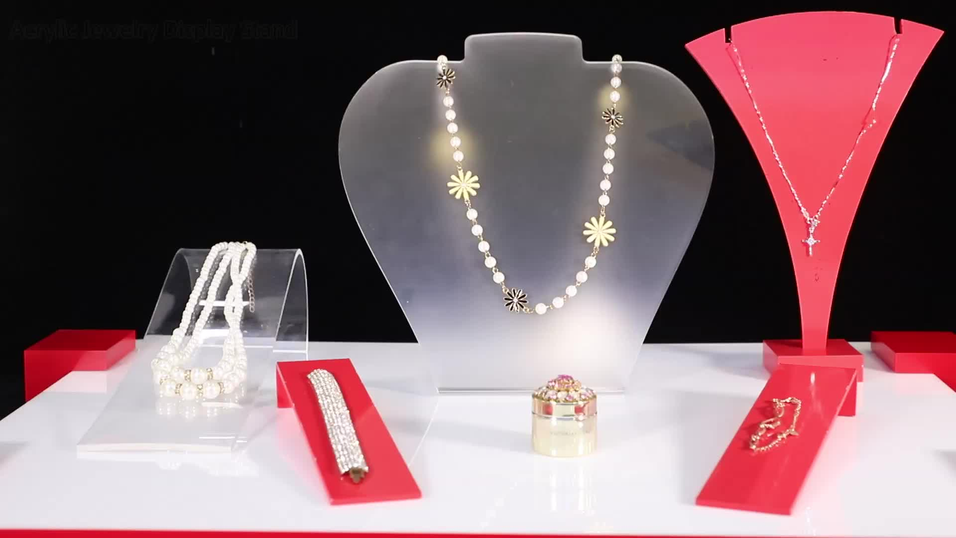 high quality acrylic jewelry display counter sets