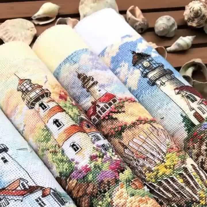 Remessa livre DIY Handmade Conjunto Bordados de Ponto Cruz Para Kits de Bordados Decoração Da Casa Da Paisagem do Ponto da Cruz Padrões Livres