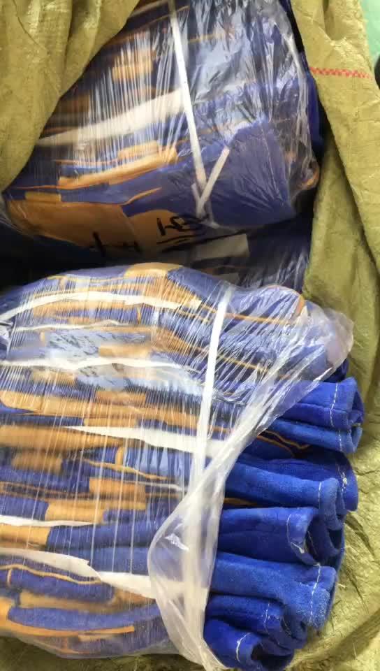 """16 """"ブルー牛革溶接手袋安全手袋"""