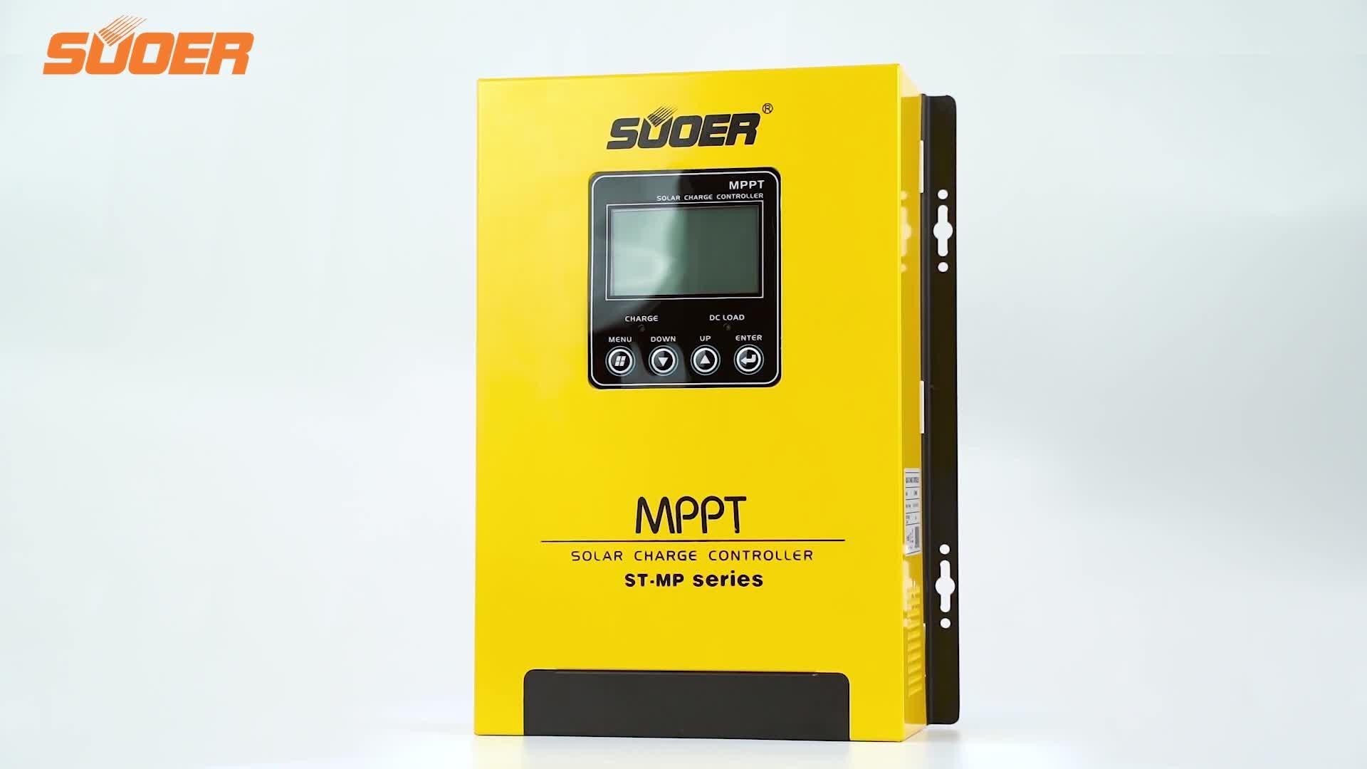 Suoer ST-MP60 60A 12v 24v 48v MPPT 스마트 솔라 충전 컨트롤러 MPPT 태양 컨트롤러