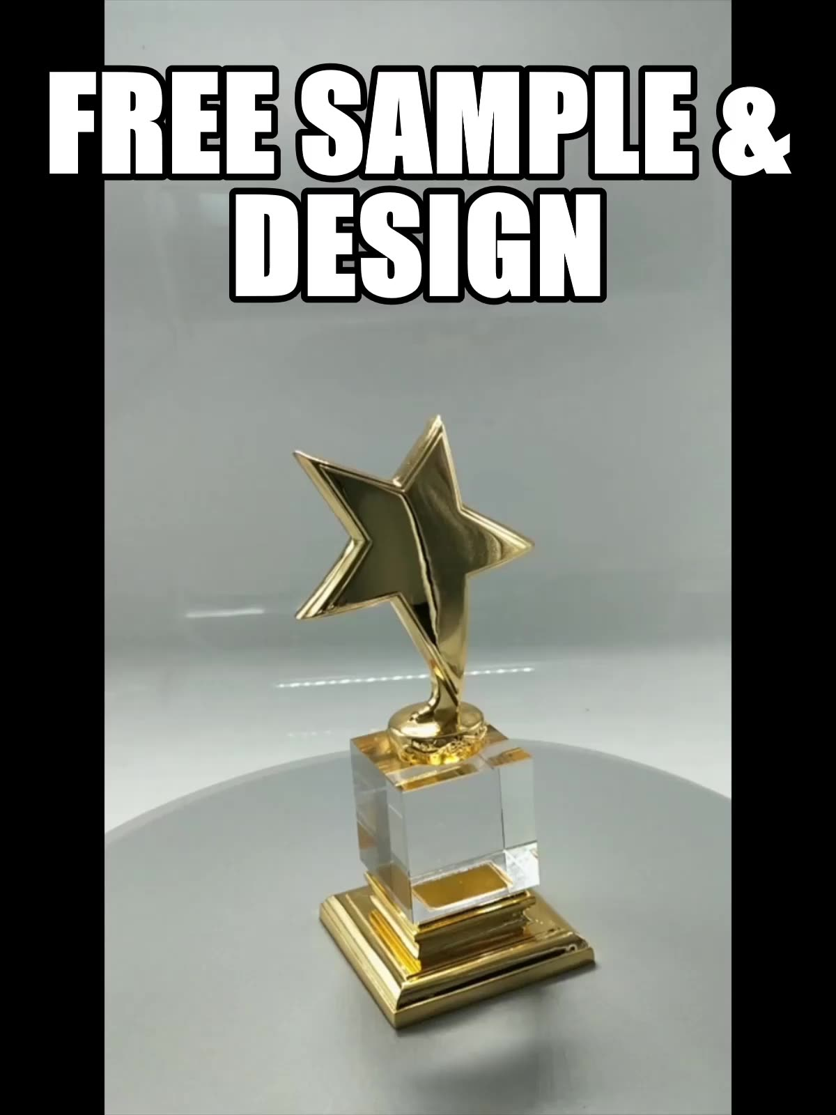 Wholesale Customize sport award Crystal Trophy Cup