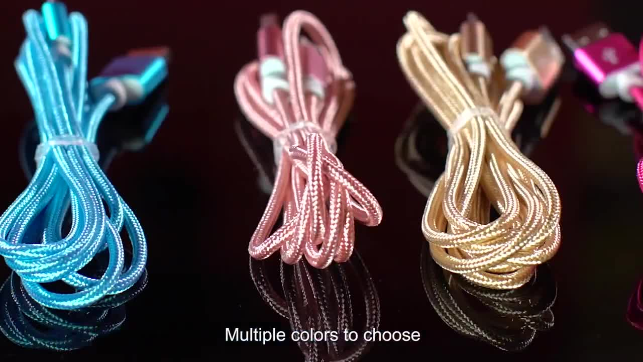 1m 3ft  Nylon Braided 2.1A 3A  Fast Charging Data USB 2.0 to 3.1 Usb C  Type  C Cable