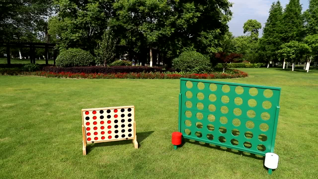 Garden Classic Intelligence Giant Size Wooden Connect 4 Outdoor Game four in a row