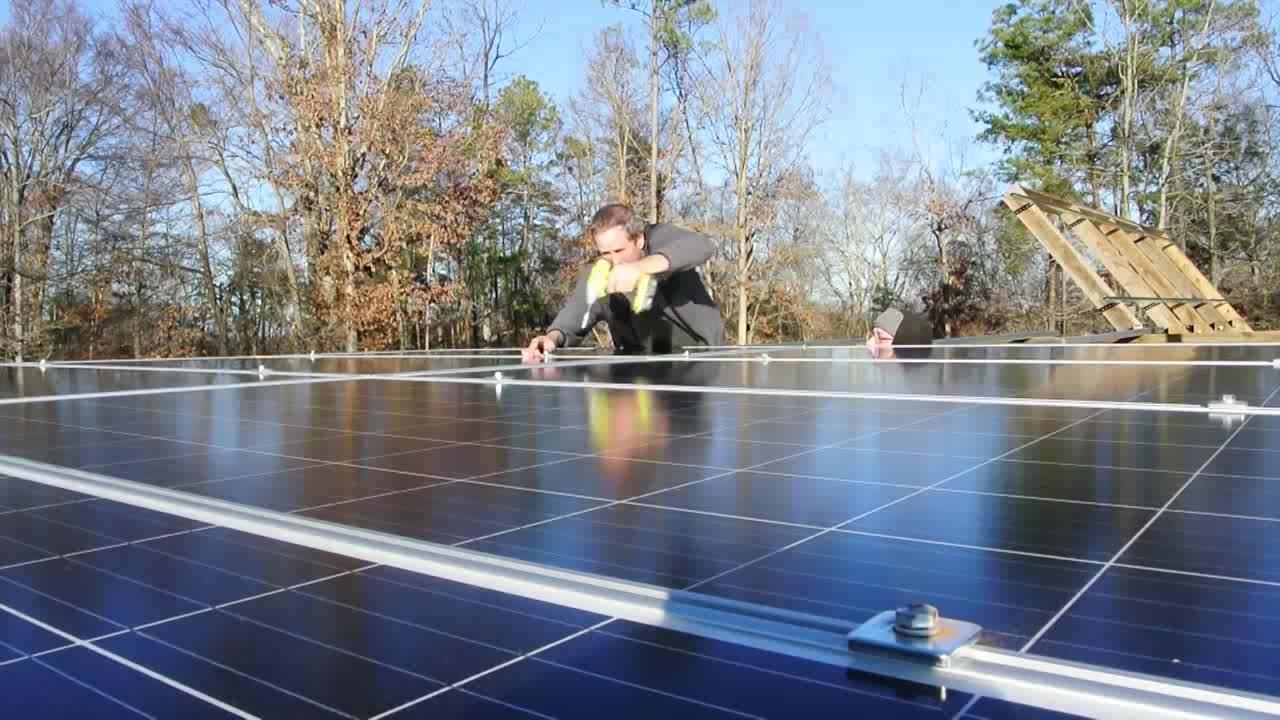 Conjunto completo de sistema de energía solar fuera de la red 1kw 3kw 5kw sistema solar en la red de energía solar kit