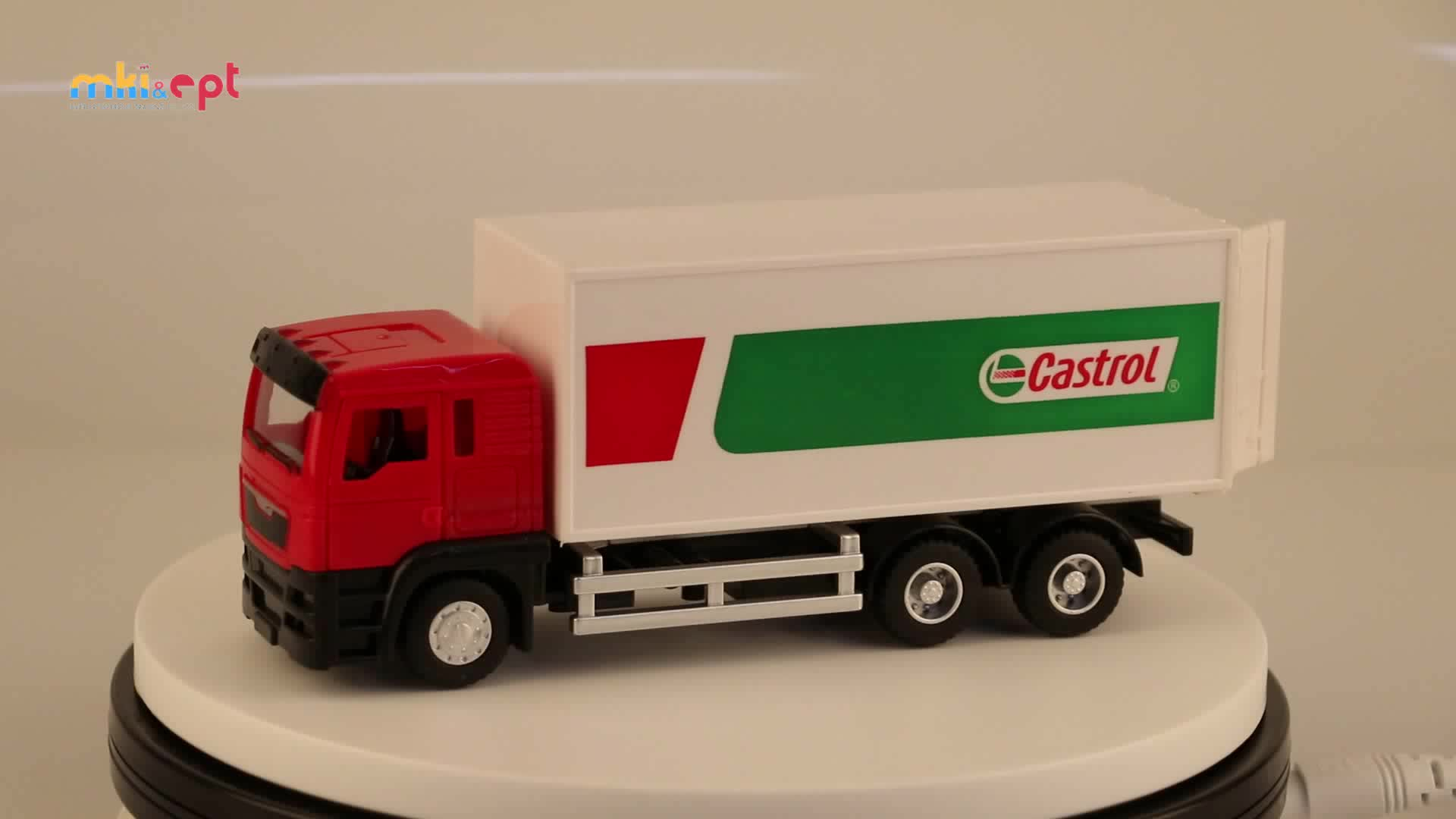 Wholesale Electric Plastic Truck Door Opening Container Truck Toy With Light and Music For Kids