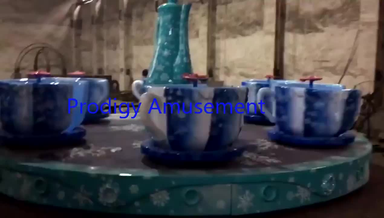 China mill hot sale amusement indoor theme park prodigy electric children tea cup ride for kids for sale
