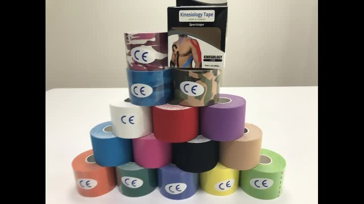 Cotton Sport Tape Kinesiology Tape Printed With Customer Logo