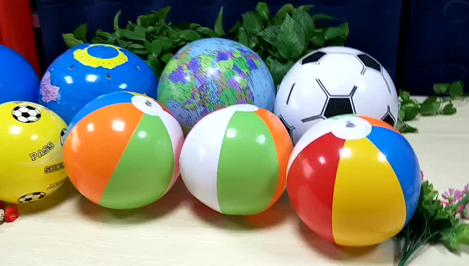 Have in stock 12 inch inflatable beach ball pvc