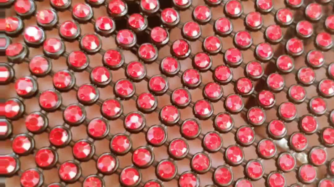 Hot new products hotfix crystal mesh rhinestone bling fabric